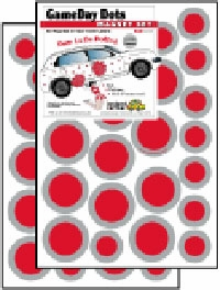 Game Day Dot Magnets - Red & Gray