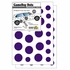 Game Day Dot Magnets - Purple & White