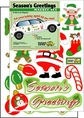 Season's Greetings Holiday Car Magnet Set