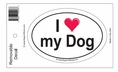 """I Love My Dog"" Bumper Sticker Decal"