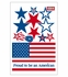 US Flag Patriotic Car Magnet Set