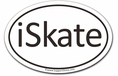 iSkate Car Magnet - Oval