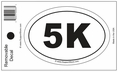 5K Bumper Sticker Decal - Oval