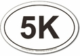 5K Run Oval Car Magnet