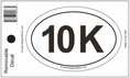10K Bumper Sticker Decal - Oval