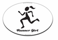 Runner Girl Car Magnet