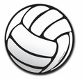 "Volleyball Car Magnet - 6"" Round"