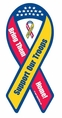 """Support Our Troops - Bring Them Home!"" Ribbon Magnet"
