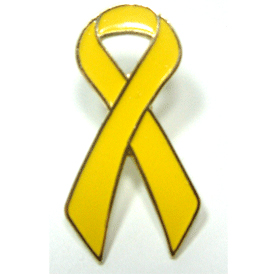 Yellow Ribbon Lapel Pin