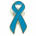 Light Blue Ribbon Lapel Pin