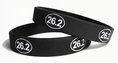 26.2 Marathon Run Training Rubber Wristband - Adult 8""