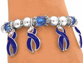 Blue Awareness Charm Bracelet