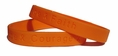 """Hope Courage Faith"" Orange Rubber Bracelet Wristband - Adult 8"""
