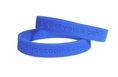 """Colonoscopies save lives - get yours behind you"" wristband - Adult 8"""