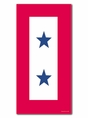 Two Star Service Banner Magnet