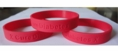 """Cure Diabetes"" Red Rubber Bracelet Wristband - Adult 8"""