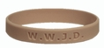 Christian Bracelet,  What Would Jesus Do Wristband -  Youth 7""