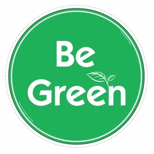 """Be Green"" Car Magnet - Special Order Item"