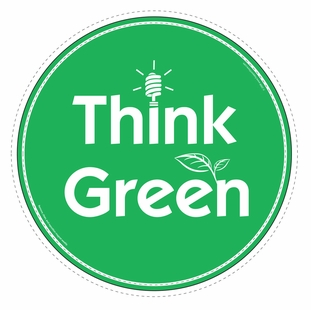 """Think Green"" Car Magnet - Special Order Item"