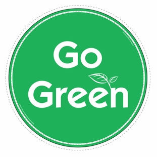 """Go Green"" Car Magnet - Special Order Item"