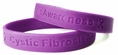 Cystic Fibrosis Awareness Purple Rubber Bracelet Wristband - Youth 7""