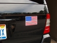 "Magnetic American Flag Car Magnet 4"" x 6"""