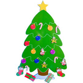 Christmas Tree Refrigerator Magnet Set