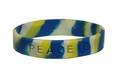 """Peace"" Rubber Bracelet  Wristband - Tie-Dye - Youth 7"""
