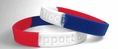 """Support our Troops"" Red, White & Blue Rubber Wristband � Adult 8"""