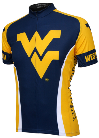 West Virginia University Mountaineers Cycling Jersey Free Shipping