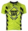 Drive Safe 3 Feet Please Cycling Jersey With Reflective Safety Strip