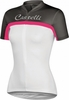 Castelli Promessa Women's Cycling Jersey White/Anthracite/Pink