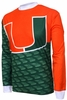 Miami Hurricanes Long Sleeved Bike Jersey
