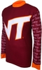 Virgina Tech Hokies Long Sleeved Bike Jersey