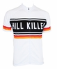 Hill Killer White Retro Cycling Jersey