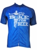 Will Bike for Beer Tall Cycling Jersey