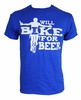 Hill Killer Apparel Will Bike for Beer T Shirt