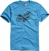 Fox Grey Matter T shirt Electric Blue