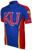 Kansas University Jayhawks Cycling Jersey Free Shipping