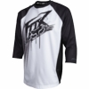 Fox Covert 3/4 Mountain Bike Jersey Black and White