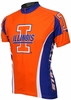 University of Illinois Fighting Illini Cycling Jersey Free Shipping