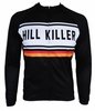 Hill Killer Retro Black Long Sleeve Cycling Jersey