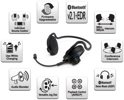 Sena SPH10 Bluetooth Helmet-less Headset & Intercom