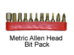 Metric Allen Head Bit Pack