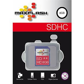 Max Flash 8GB SDHC High Capacity Class 10 Memory Card