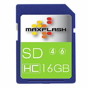 Max Flash 16GB SDHC High Capacity Class 10 Memory Card