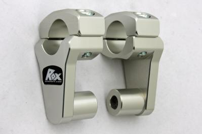"ROX Handle Bar Adjustable/Pivoting Risers for 7/8"" Handlebar Clamp and 7/8"" or 1 1/8 "" Handlebars"