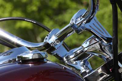 Chrome ROX Adjustable / Pivoting Cruiser Handlebar Risers: 3 inch rise x 1 inch Handle Bars