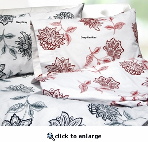 Tribeca Living Flower Printed Deep Pocket Flannel Sheet Set