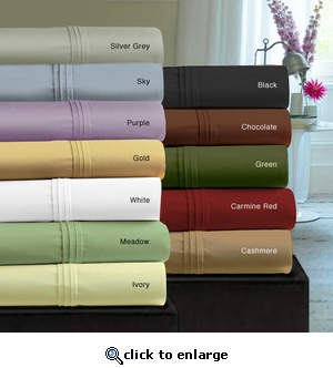 350 Thread Count Egyptian Cotton Sateen Extra Deep Pocket Sheet Set